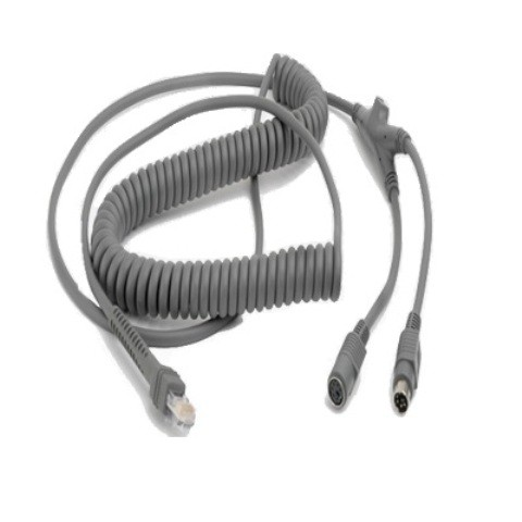 Zebra PS/2 Spiral-Anschlußkabel (3,65 m)