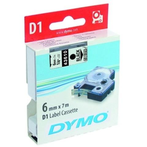 DYMO D1-Schriftband (6 mm x 7 m)